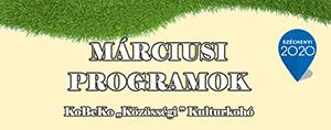 """A """"KoBeKo Közösségi Kulturkohó"""" Márciusi programjai"""