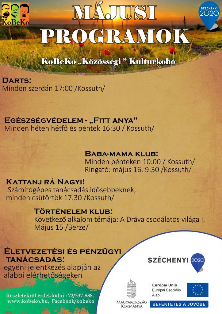 KoBeKo Közösségi Kultúrkohó Május